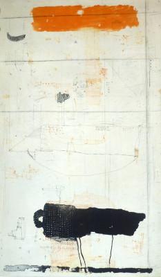 Falko Behrendet, Gelb Schwarz, 1991,Auflage e.a. Farblithografie, 99 x 59cm