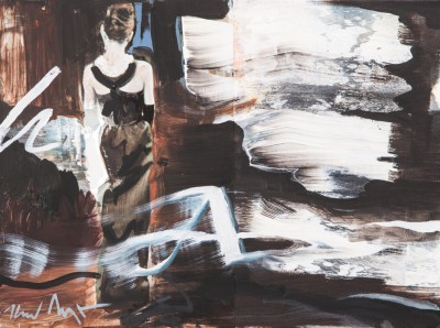 Heiner Meyer, 8am, 2013, Öl und Foto auf LW, 30x40cm
