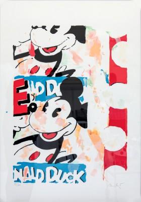 Heiner Meyer, Mickey's Choice_2013_Siebdruck und coloriert auf Bütten, 100x70cm