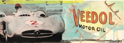 Heiner Meyer_Festival of Speed II_2013_Öl auf LW und Foto, 21x60cm