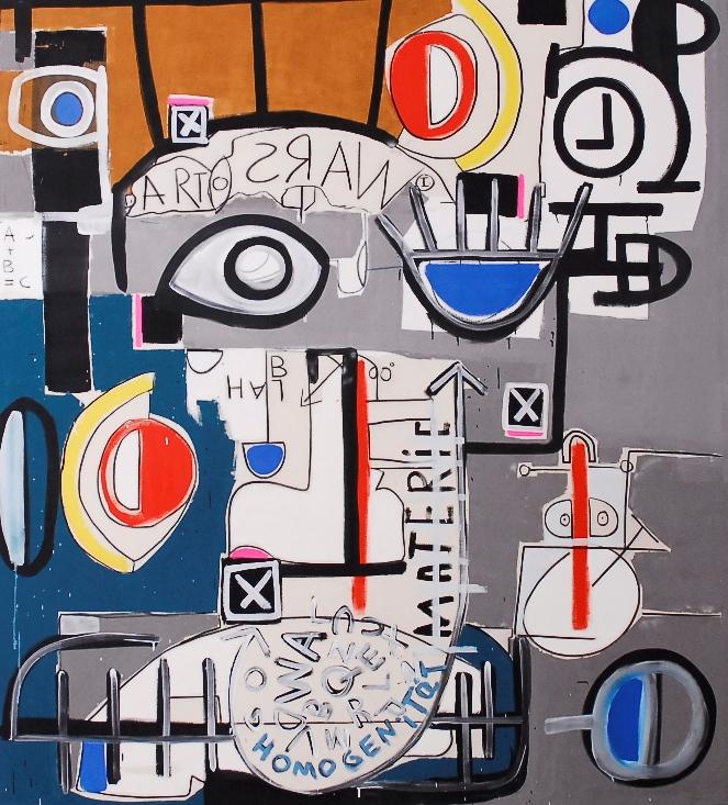 JuHo_Art Wars, 230 x 207 cm_Acryl auf Leinwand_2010