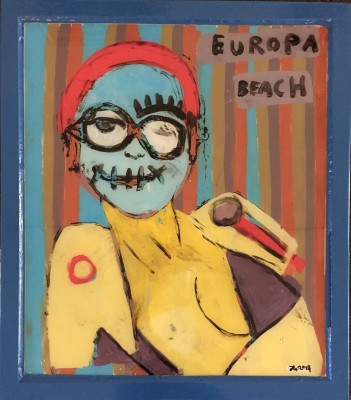 JuHo_Europa Beach_2014_86x75cm_Hinterglasmalerei