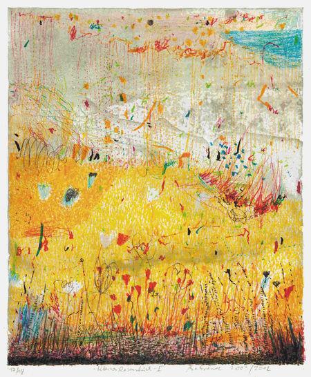 falko behrendt, Gelbes Feld, 1999, Farblithpgrafie, 55x40cm