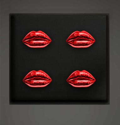 kiss rahmen 70 x 70_red-1
